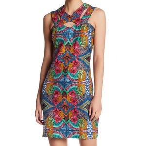 Taylor Floral Double Strap Textured Dress